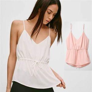 Aritzia Babaton Warren NWOT pink camisole top with waist tie details